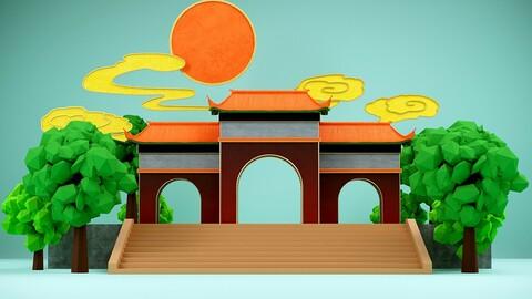 Suzhou Wuliu verve landmark building city scenery Chinese style