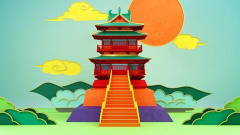 Taizhou Wanghai Building landmark building city scenery Chinese style