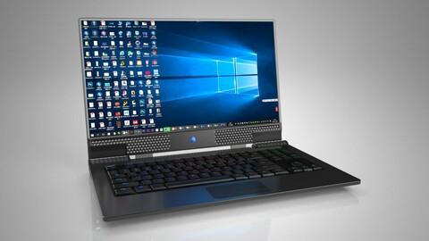 Alien laptop laptop black computer alien computer