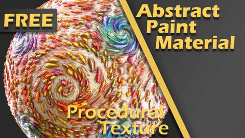Abstract Paint Material