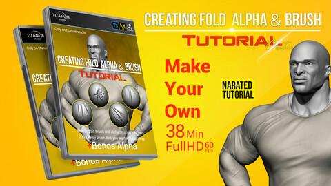Creating Fabric Fold-wrincles Alpha & Brush tutorial + Bonus Alphas
