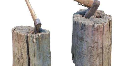 367 Stump with an ax