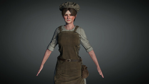 Medieval Female Character 01
