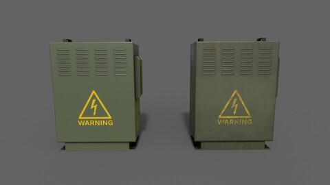 PBR Electric Box (DarkGreen) Ver.3