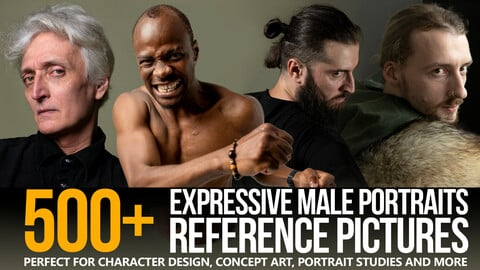 500+ Expressive Male Portraits Reference Pictures