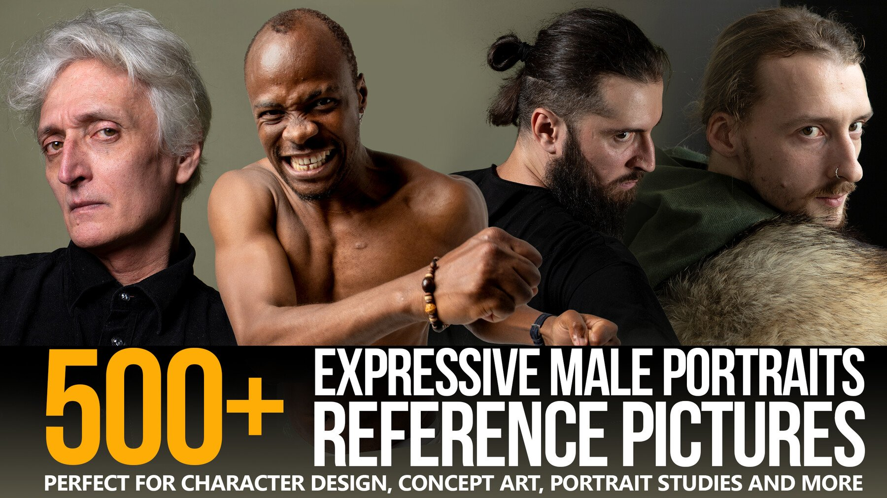 ArtStation - 500+ Expressive Male Portraits Reference Pictures | Resources