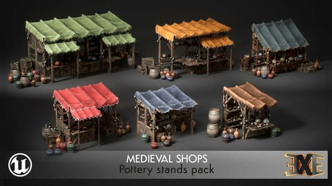 EXE Medieval Shop - Pottery Stands Pack