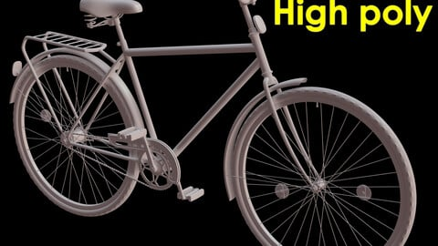 Bicycle high poly