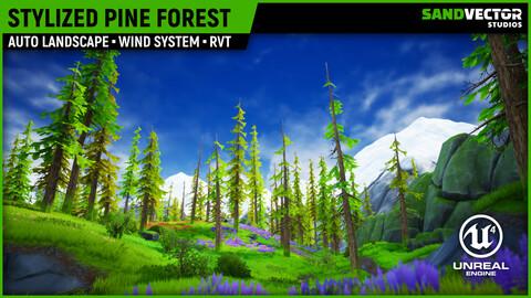 Stylized Pine Forest