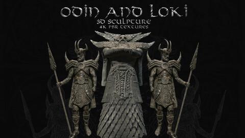 Odin And Loki 3D Sculpture