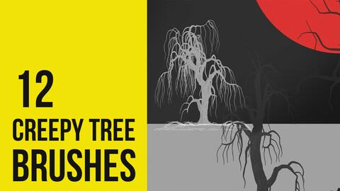 ( Halloween ) Creepy Tree Brushes for Photoshop