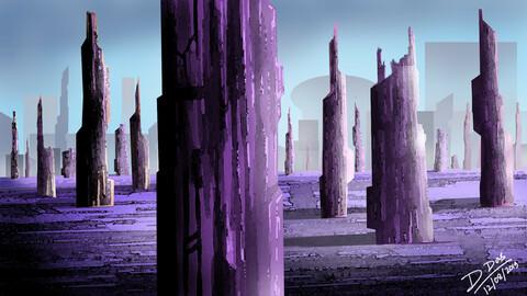 Old Abandoned City (Digital Art)