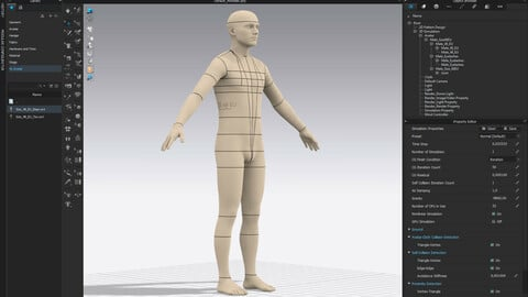 Realistic avatar-mannequin for Clo3D - Male Size 48 EU