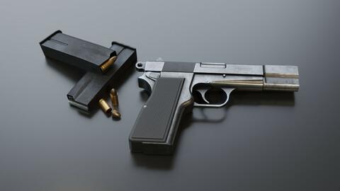 Pistol 9mm Browning Hi-Power