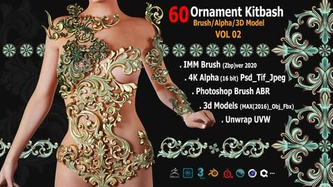 60 Sahra Ornament Brush/Alpha/3D Model VOL02