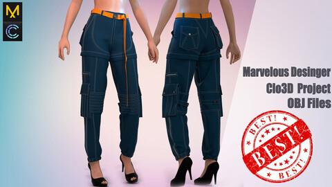 Women's trousers OCTAVE 999/ Marvelous Desinger/Clo3D Project+OBJ File