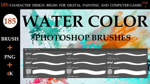 185+CHARACTER DESIGN BRUSH FOR DIGITAL PAINTING AND COMPUTER GAMES  VOL:1