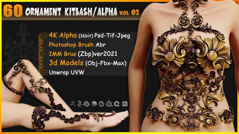 60 Ornament Kitbash / Alpha / 3D Models / IMM vol 02