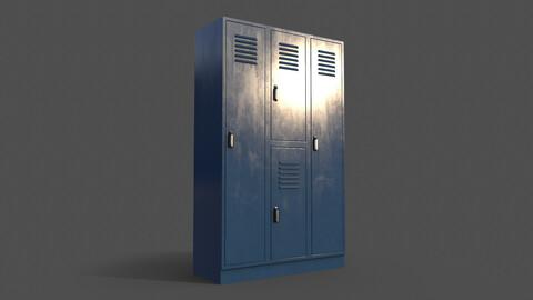 PBR School Gym Locker 05 - Blue Dark