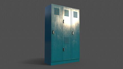 PBR School Gym Locker 05 - Blue Sea
