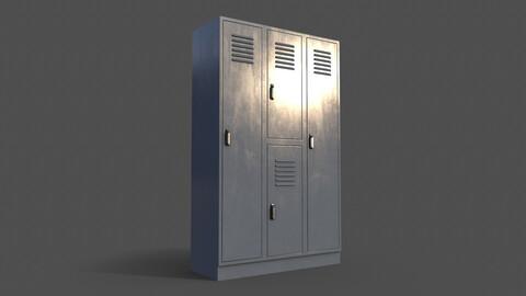 PBR School Gym Locker 05 - Grey