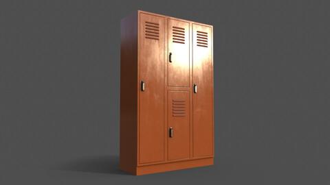 PBR School Gym Locker 05 - Orange