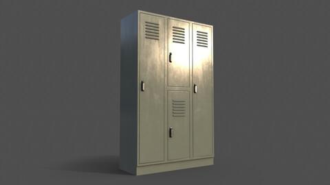 PBR School Gym Locker 05 - Pale Green