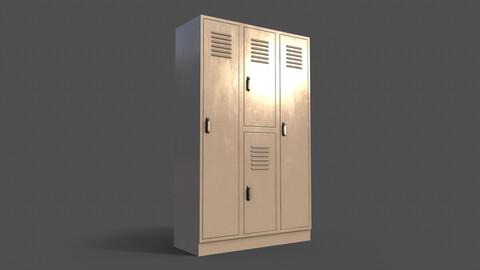 PBR School Gym Locker 05 - White