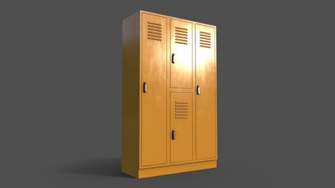 PBR School Gym Locker 05 - Yellow