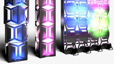 Stage Decor 19 - Modular Wall Column