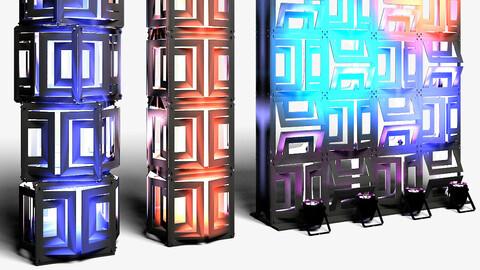 Stage Decor 21 - Modular Wall Column