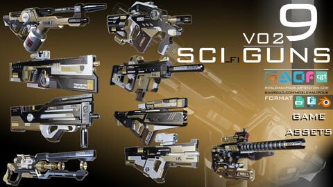 sci-fi guns kitbash (weapons) vol 02