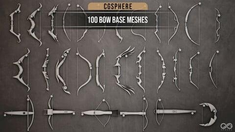 100 Bow Base Meshes