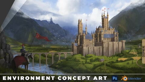 Environment Concept Art Tutorial + Files And Kitbash
