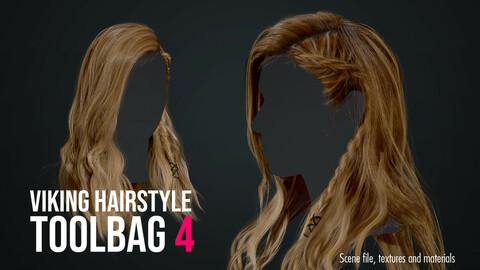 Hair Cards, Viking Hairsyle - Marmoset Toolbag 4