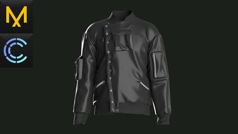 Jacket №1. Marvelous Designer / Clo 3D project +obj/fbx.