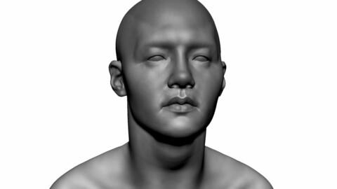 Asian Male Head 02