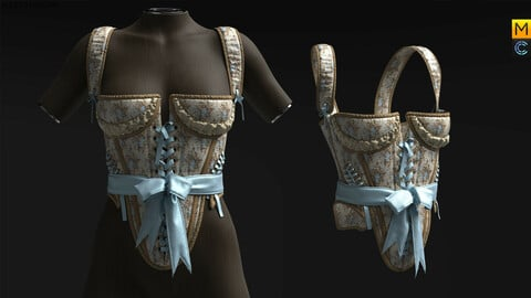 CORSET WITH SILK LACING