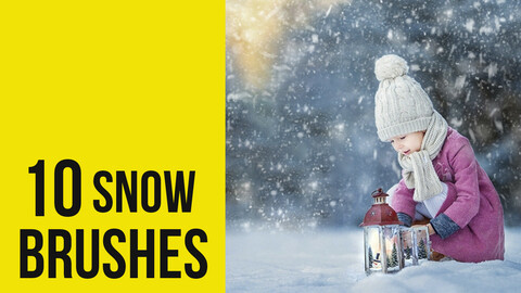 Snow Effect Brushes for Photoshop
