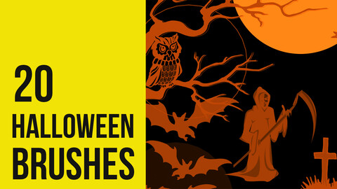 Halloween Scary brushes for Photoshop