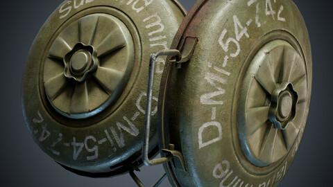 Old anti tank land mine bomb anti-caterpillar-mine