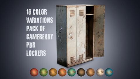 10 colors variation metal painted vintage  wardrobe lockers