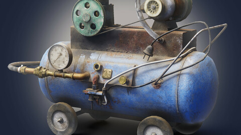 Air compressor DIY tool 6 colors old used handmade