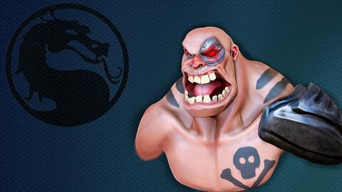 Stylized Kano Bust From Mortal Kombat