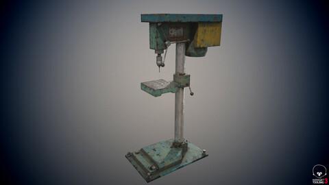 Old drill press industrial machine  tool