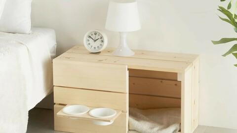 Wood Pet House Pet Table Set