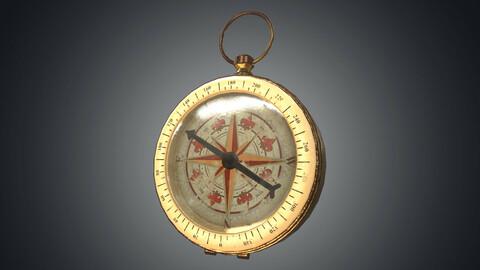 Vintage gold antique compass