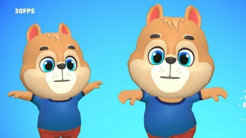 Squirrel Animated Rigged