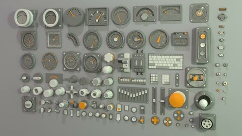 Industrial Kitbash-2 - 105 pieces