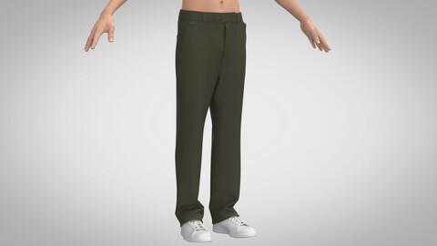 Basic Chino Pants, Marvelous Designer, Clo3D